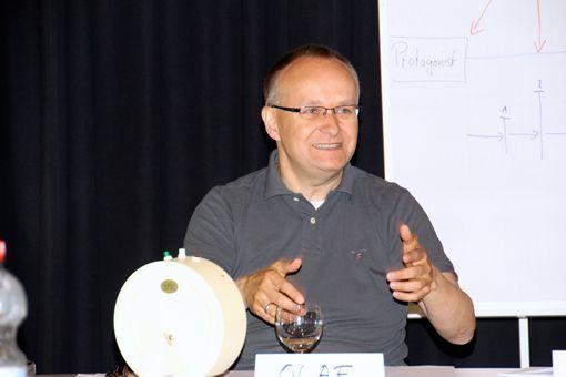 Engagiert: Dr. Olaf Kutzmutz von der Bundesakademie leitete durch das Seminar in Wolfenbüttel. Foto: Peter Wayand