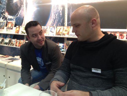 Leipziger Buchmesse 2016: Marc A. Herren und Kai Hirdt im Gespräch
